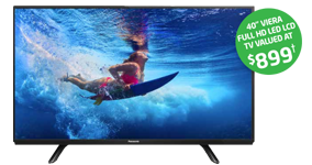 40 INCH VIERA FULL HD LED LCD TV VALUED AT $899